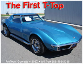 2 Believed To Be The First Corvette T Top Ever Built 3 427 275 Tops Were Produced From 1968 Through 1982 4 Launch Was Delayed Until February