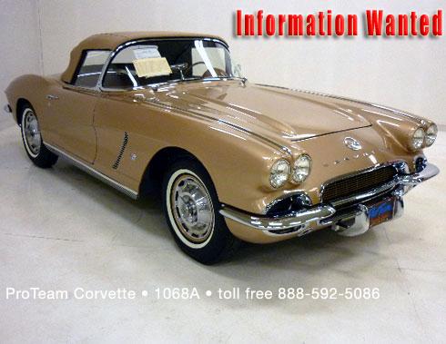 Classic Corvette For Sale 1962 1068a