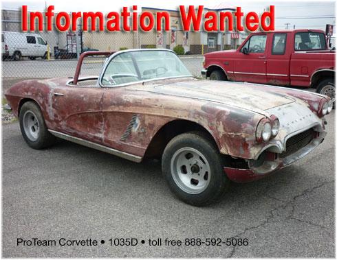 Classic Corvette for Sale • 1962 • 1035D