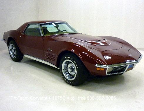 classic corvette for sale 1970 1075c. Black Bedroom Furniture Sets. Home Design Ideas
