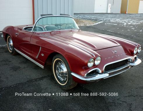 classic corvette for sale 1962 1108b. Black Bedroom Furniture Sets. Home Design Ideas