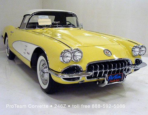 classic corvette for sale 1958 246z. Black Bedroom Furniture Sets. Home Design Ideas