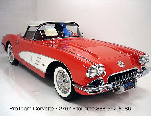 classic corvette for sale 1958 276z. Black Bedroom Furniture Sets. Home Design Ideas