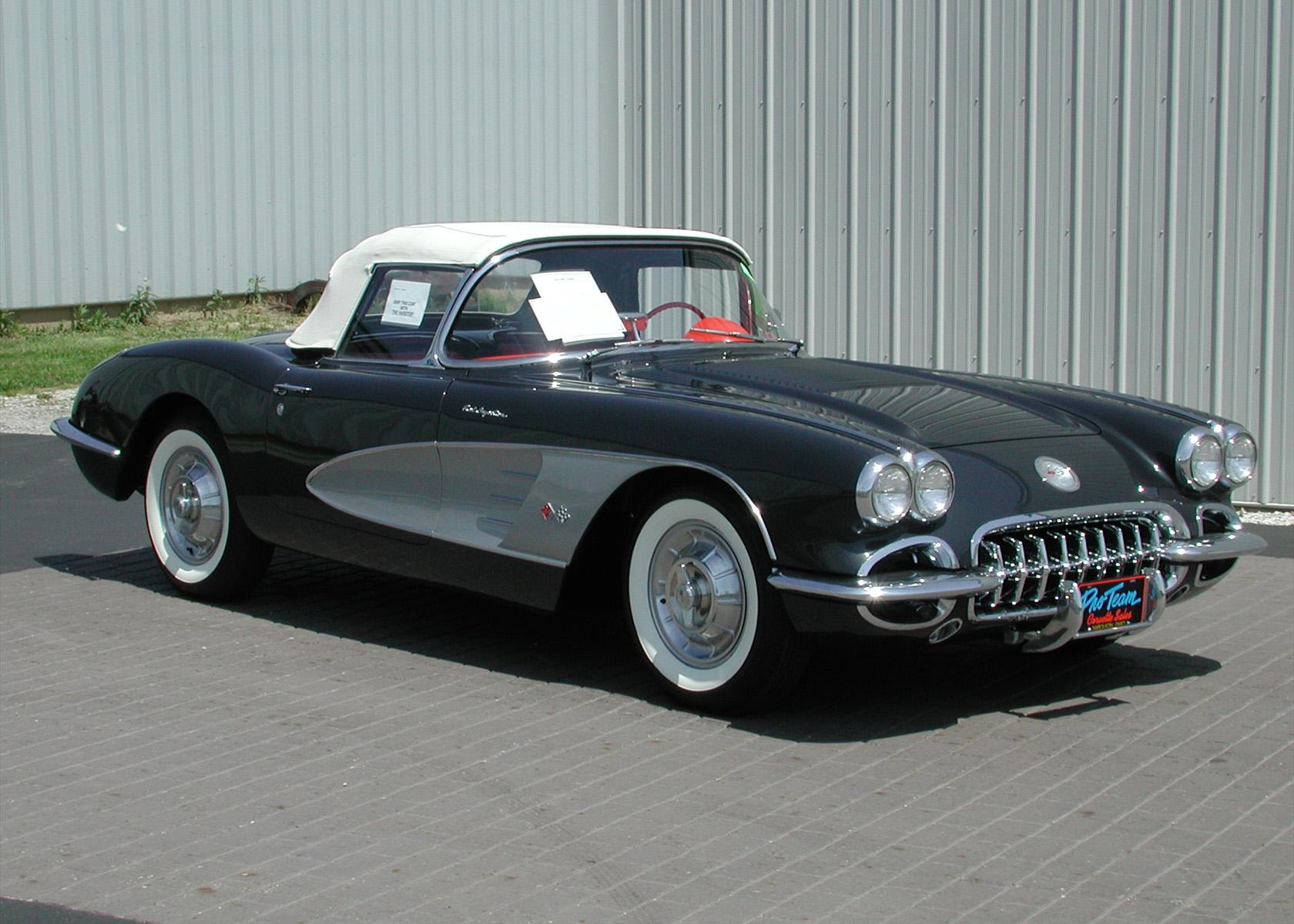 1958 Corvette Photo Proteam Classic Corvettes